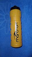 Бутылка спортивная воды MARATON с поилкой 0,75л жетая
