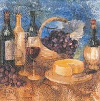 Редкая декупажная салфетка Вино 5655