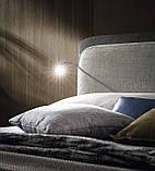 Итальянская мягкая кровать с подсветкой в изголовье Penny фабрика Felis, фото 4