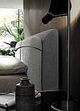 Итальянская мягкая кровать с подсветкой в изголовье Penny фабрика Felis, фото 5