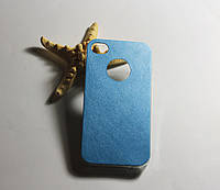 Накладка TPU+Leather для iPhone 4 Blue