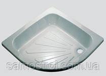 Поддон металический полукруглый 80*80 см