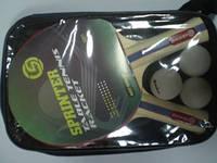 Набор для н. т. Sprinter (2 ракетки + 3 шарика) в сумочке
