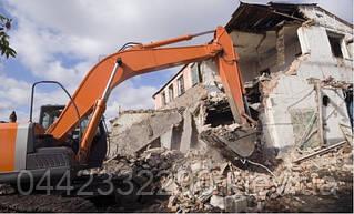 Демонтаж загородного дома, дачи, снос недостроенного здания