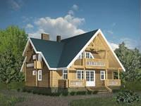Изготовление Деревянного дома из сруба 180 м 2.