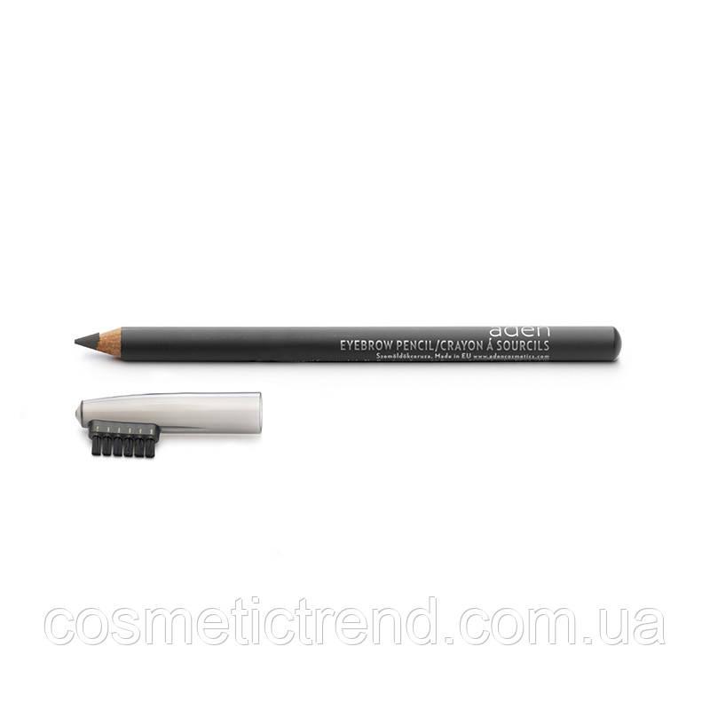 Карандаш для бровей водостойкий Eyebrow Pencil Grey Aden cosmetics