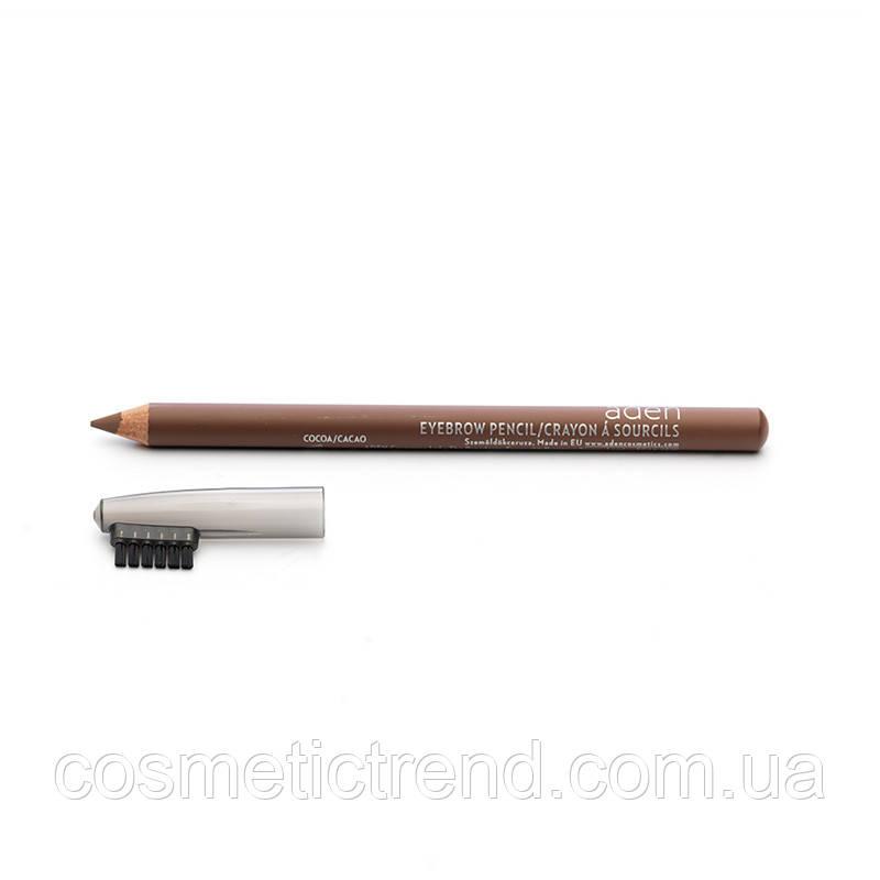 Карандаш для бровей водостойкий Eyebrow Pencil Cocoa Aden cosmetics