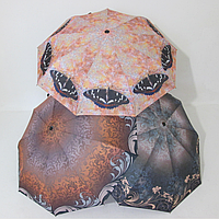 Женский зонт полуавтомат цветочный принт