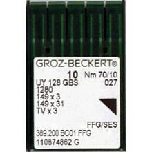 Иглы для промышленных швейных машин UY128GS #  Groz-Beckert (Германия)