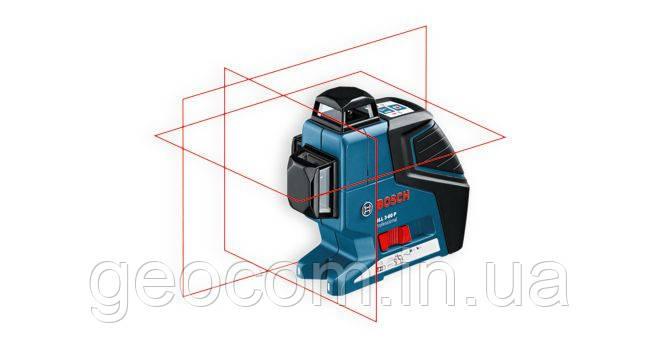 Лазерный построитель плоскости Bosch Professional GLL 3-80 + вкладка под L-Boxx