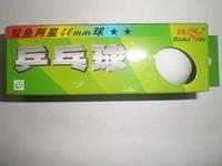 Шарики для н. т. DOUBLE FISH (40 мм., 3 шт.) белые