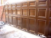 Откатные ворота Филенка (Филенчатые), фото 1