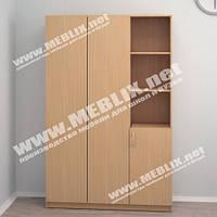 Шкаф для одежды комбинированный ШО-3 (900*350*1840h), офисный шкаф для одежды, офисные шкафы, шкафы для офиса