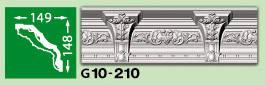 Плинтус потолочный G10-210, фото 2