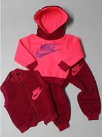 """Детский спортивный костюм """"Nike"""" тройка, на флисе, рост от 80 до 110 см"""