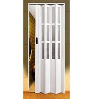 Двери-гармошки Symfonia Арктический белый 2030х860 мм