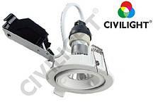 Корпус світильника поворотний врізний CED804 під LED лампу GU10 MR16 CIVILIGHT 5499р