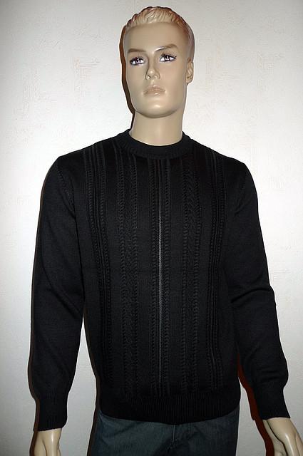 Мужской джемпер с кожаными вставками Gianni Marcelo