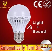 Светодиодная лампа с датчиком звука CAN MEI JIA 5 Вт  E27 (220 В)