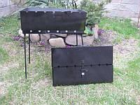 Раскладной мангал чемодан на 6 шампуров 2мм