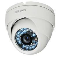 Цветная наружная антивандальная купольная камера Qihan QH-126C-2, 500 ТВЛ