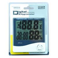 Термометр многофункциональный Sinometer HTC-2, гигрометр, часы, будильник, календарь, наружный датчи