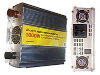 Инвертор напряжения 12V-220V 1000Вт РЕАЛЬНЫХ