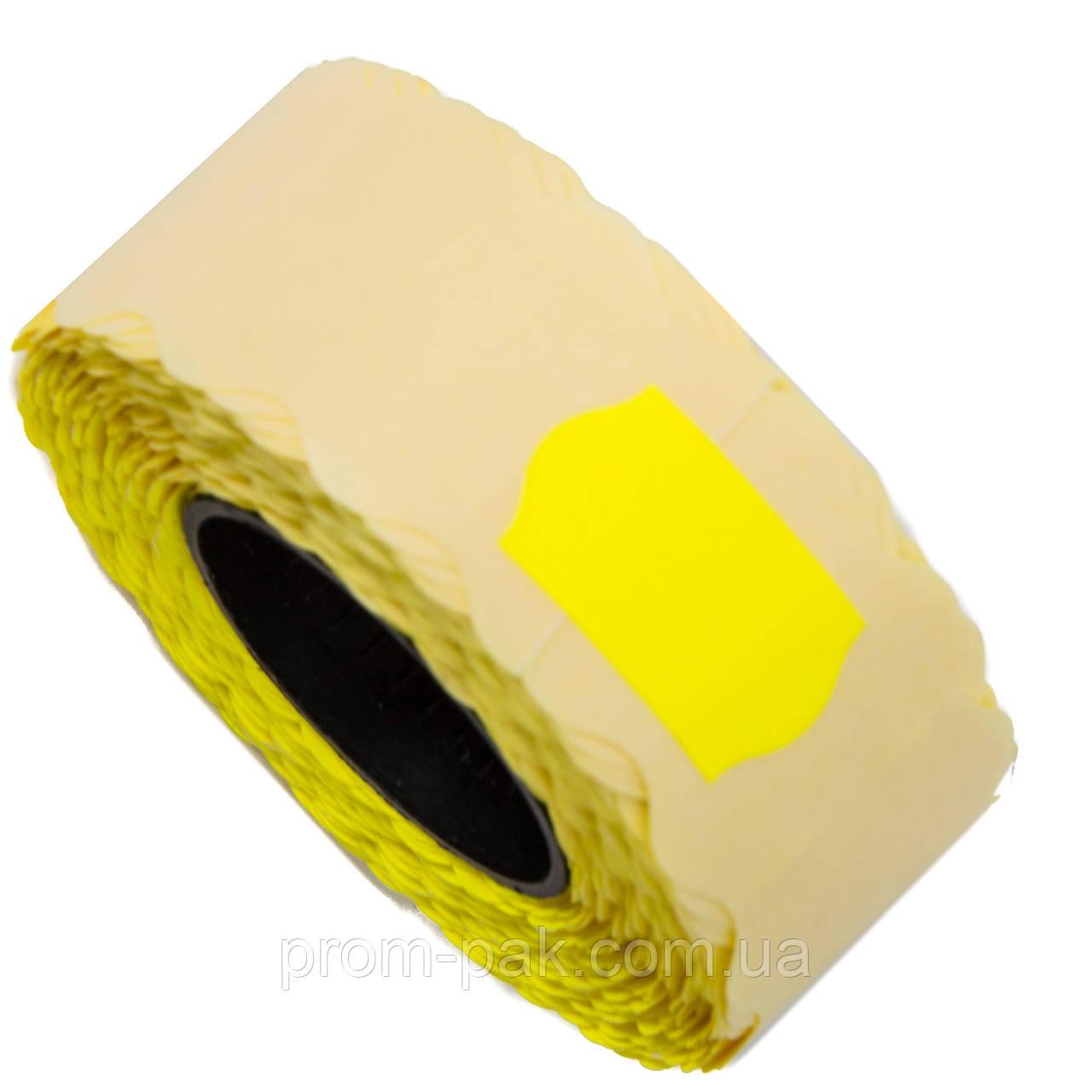 Ценник (лента) 22х12(1000) фигурный, желтый