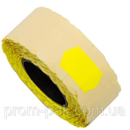 Ценник (лента) 22х12(1000) фигурный, желтый, фото 2