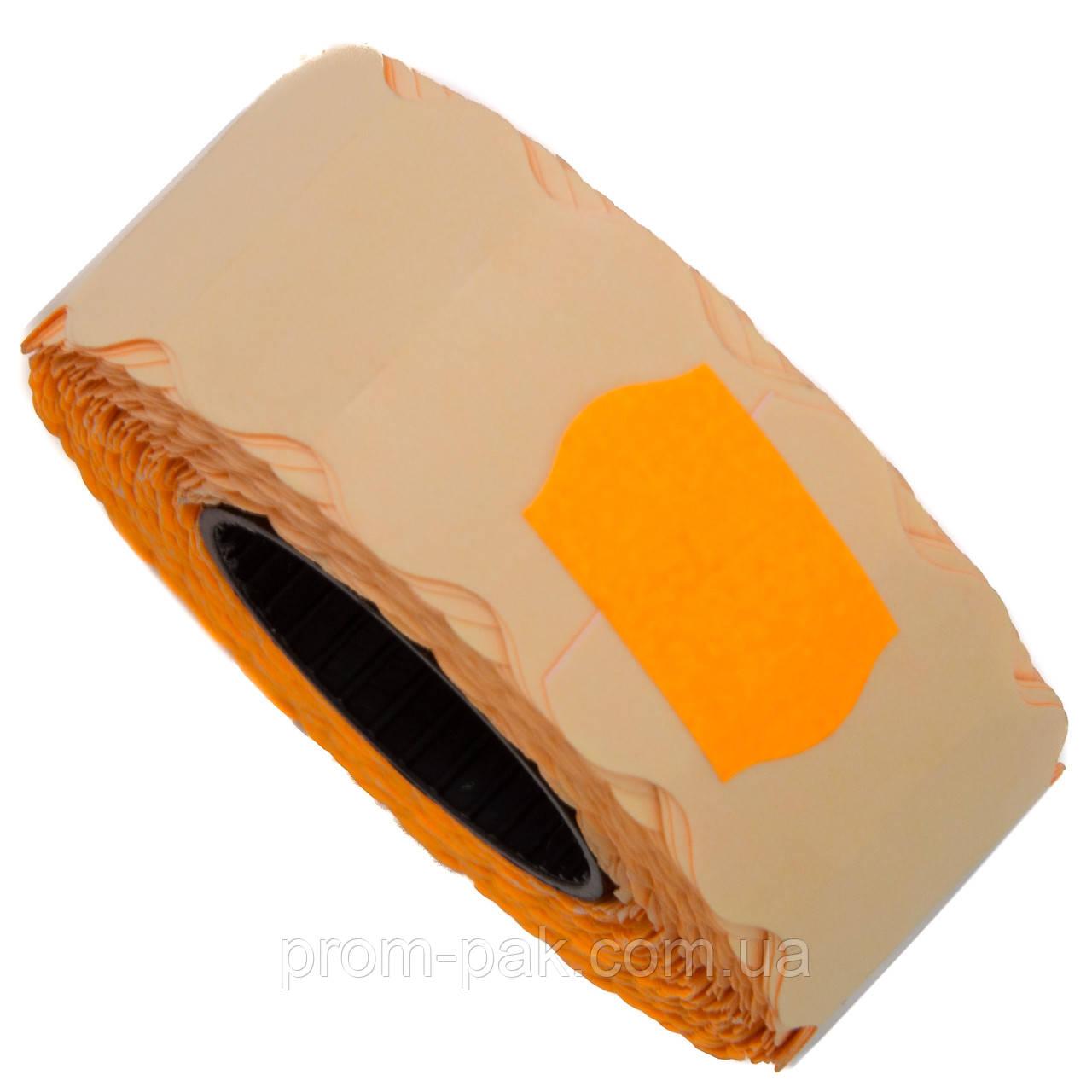 Ценник (лента) 22х12(1000) фигурный, оранжевый