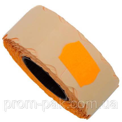 Ценник (лента) 22х12(1000) фигурный, оранжевый, фото 2