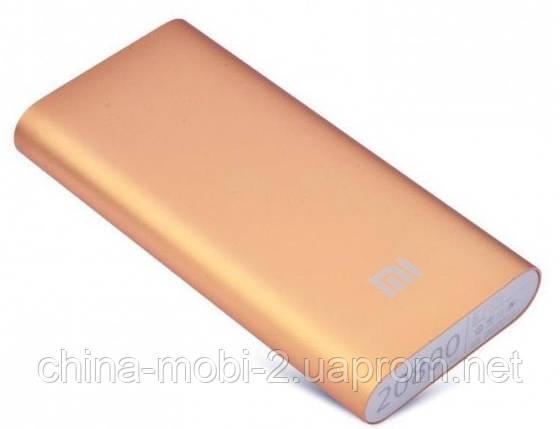 Универсальная батарея - Xiaomi power bank MI 8 20800 mAh, gold, фото 2