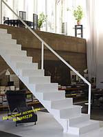 Прямая одномаршевая железобетонная лестница