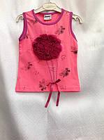 Майка для девочек 86,92,98,104,110 роста Букетик роз