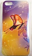 "Пластиковый Чехол ""Butterfly flow"" для Apple iPhone 5/5S Чехол для айфона"