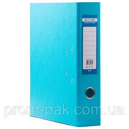Папка регистратор с арочным механизмом  А4 Buromax 7см  голубая, фото 2