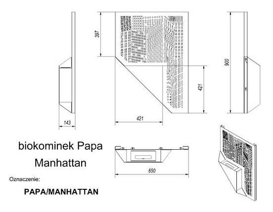 Биокамин  (экокамин) KRATKI Papa Manhattan, фото 2