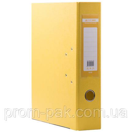 Папка регистратор для документов  А4 Buromax 7см  желтый, фото 2
