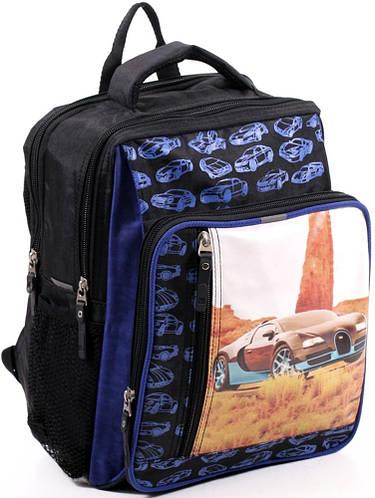 Школьный рюкзак для мальчика из нейлона 9 л. Bagland 11270-18 черный Машина