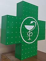 Светодиодный аптечный крест 500х500 двухсторонний эконом