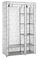 Складной тканевый шкаф на металлическом каркасе  100х46х174см