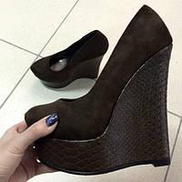 Туфли Шоколад на платформе