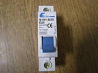 Автоматический выключатель 1п 25А Eltex
