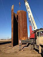 Монтаж резервуаров вертикальных стальных РВС 100 - 5000 куб.м. - изготовление, проект, монтаж, устройство фунд