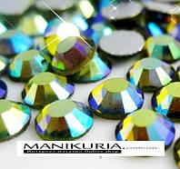 Стразы стекло, ss5 Emerald AB, 1440 шт, аналог Swarovski
