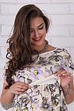 Платье для беременных и кормления Flyor, жасмин на молочном, фото 4