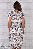 Платье для беременных и кормления Flyor, жасмин на молочном, фото 5