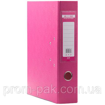Папки регистраторы на кольцах  А4 Buromax 7см  розовый, фото 2
