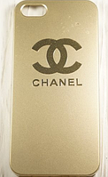"Пластиковый Чехол ""Chanel gold"" для Apple iPhone 5/5S Чехол для айфона"