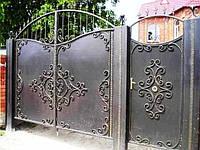 ворота и калитки с элементами ковки